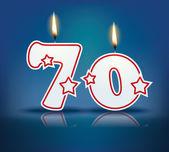 Geburtstagskerze Nummer 70