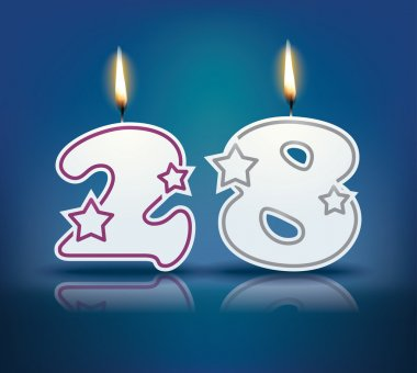 Birthday candle number 28