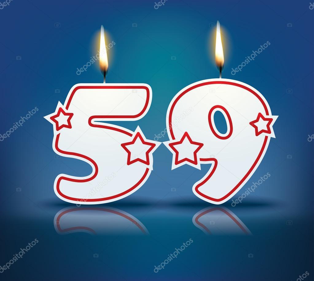 Verjaardag Kaars Nummer 59 Stockvector C Lajo 2 60241285