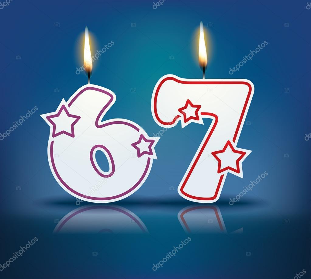 Открытки на день рождения 67 лет