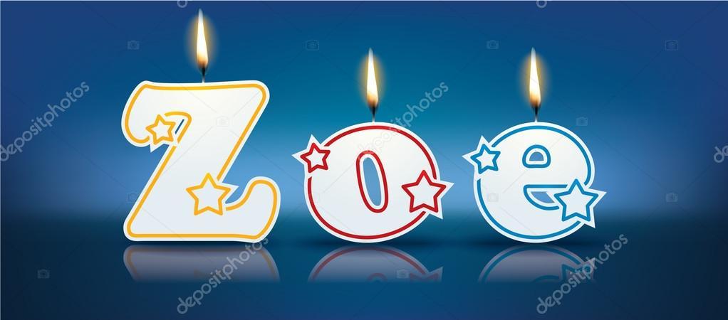 Zoe scritte con le candele burning u vettoriali stock lajo