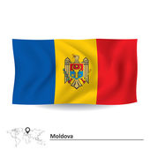 Fotografia Bandiera della Moldavia