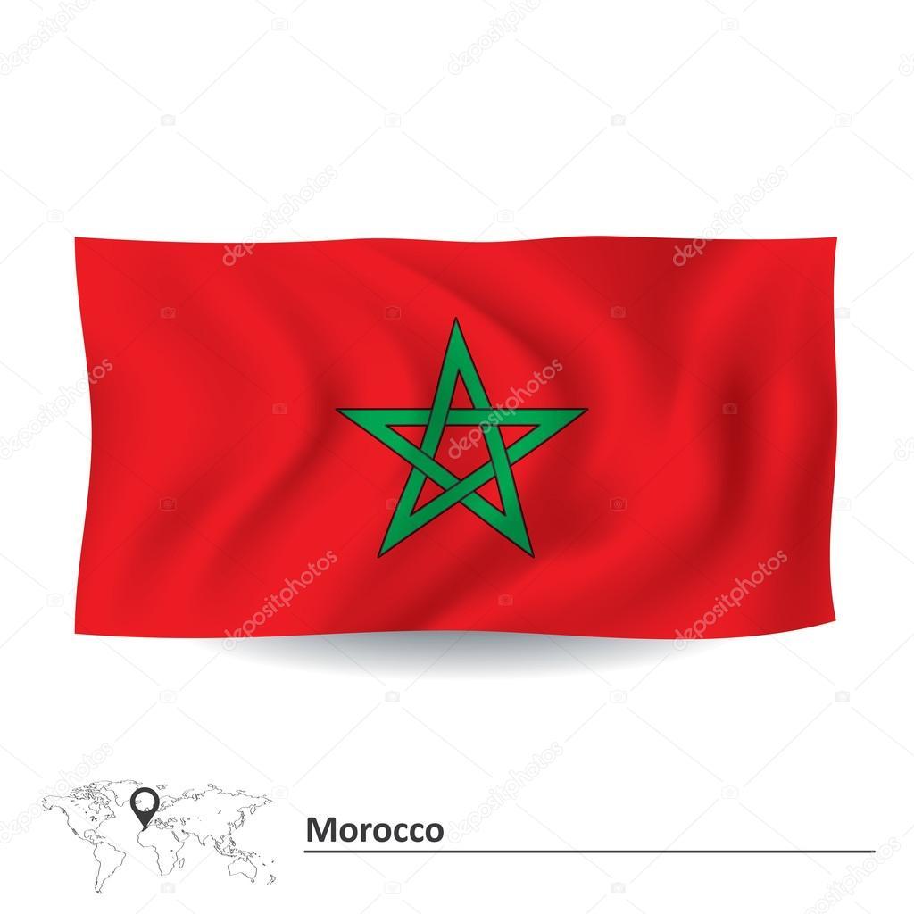 Drapeau du maroc image vectorielle lajo 2 67559611 - Drapeau du maroc a imprimer ...