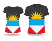 Flag shirt design of Antigua and Barbuda