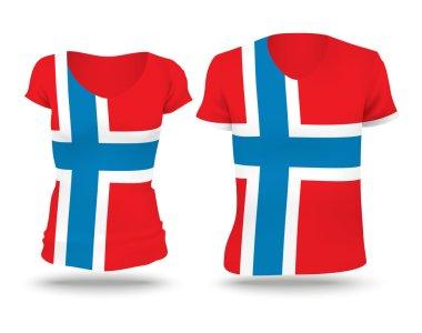Flag shirt design of Norway