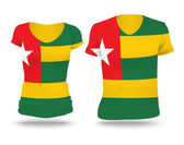 Photo Flag shirt design of Togo