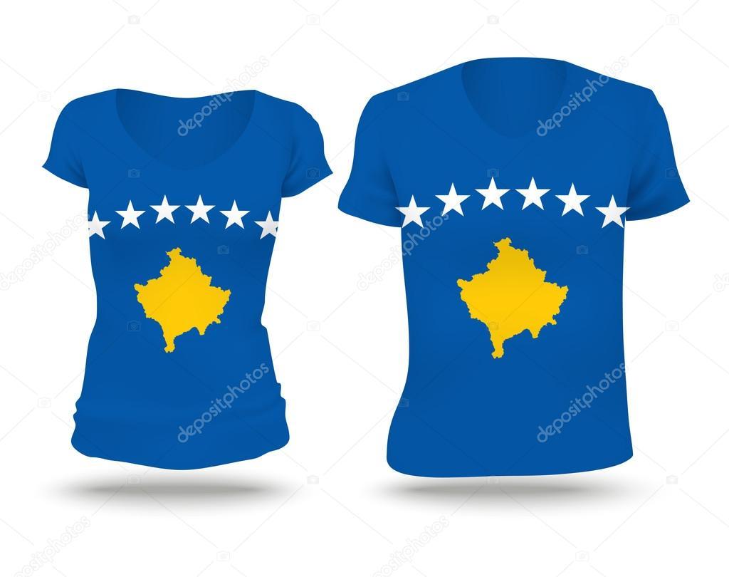 Flag shirt design of Kosovo