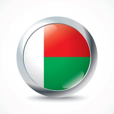 Madagascar flag button