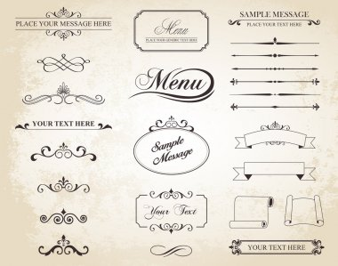Vector Vintage Ornament Divide Border