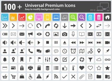 Media Icons, Web Icons, Arrow Icons, Setting Icons, Cloud Icons,