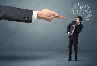 Boss hand firing guilty businessman