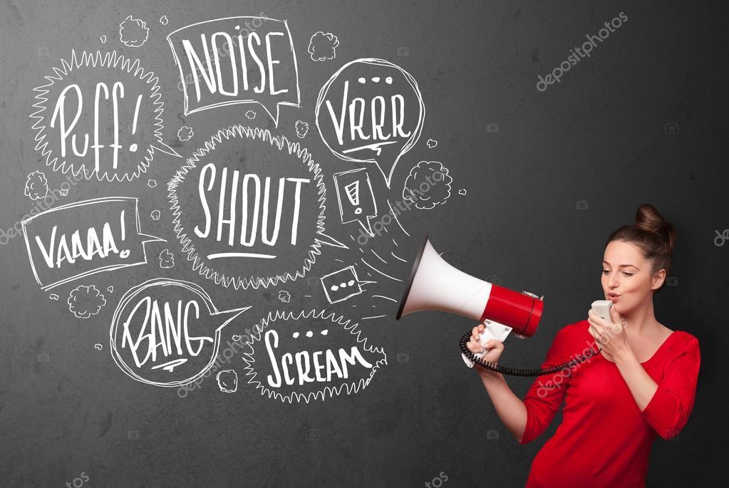 девушка кричит на работе