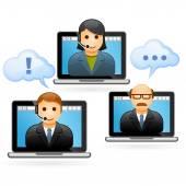 Telefonkonferenz für Geschäftsleute - Videokonferenz
