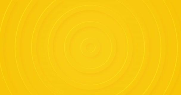 Absztrakt sárga körök lágy árnyékkal. 3d radiális dombornyomású háttér. Üres zökkenőmentes hurok animációs üzleti prezentáció. Univerzális elegáns minimális minta. Félhang modern digitális minimális BG