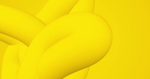 Világos napsütötte sárga hurok gradiens elvont háttér. Minimális 3D animáció prezentáció, rendezvény, parti szöveges háttér. Halloween vásár. Végtelen animált folyadék merész hajlított vonalú forma. Hullámos vicces BG