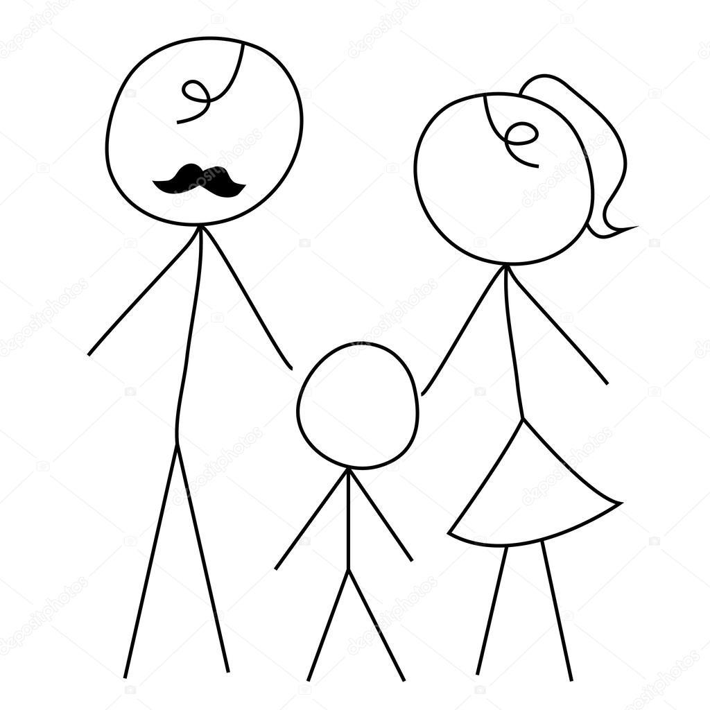 Bonhomme Allumette dessin animé doodle bonhomme allumette — image vectorielle