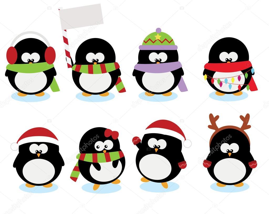 Fotos Pinguinos De Navidad Pingüinos De Dibujos Animados De
