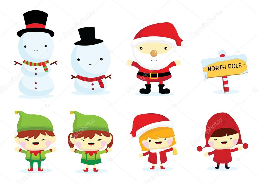 Weihnachten Cartoon clipart — Stockvektor © glossygirl21 #89167544