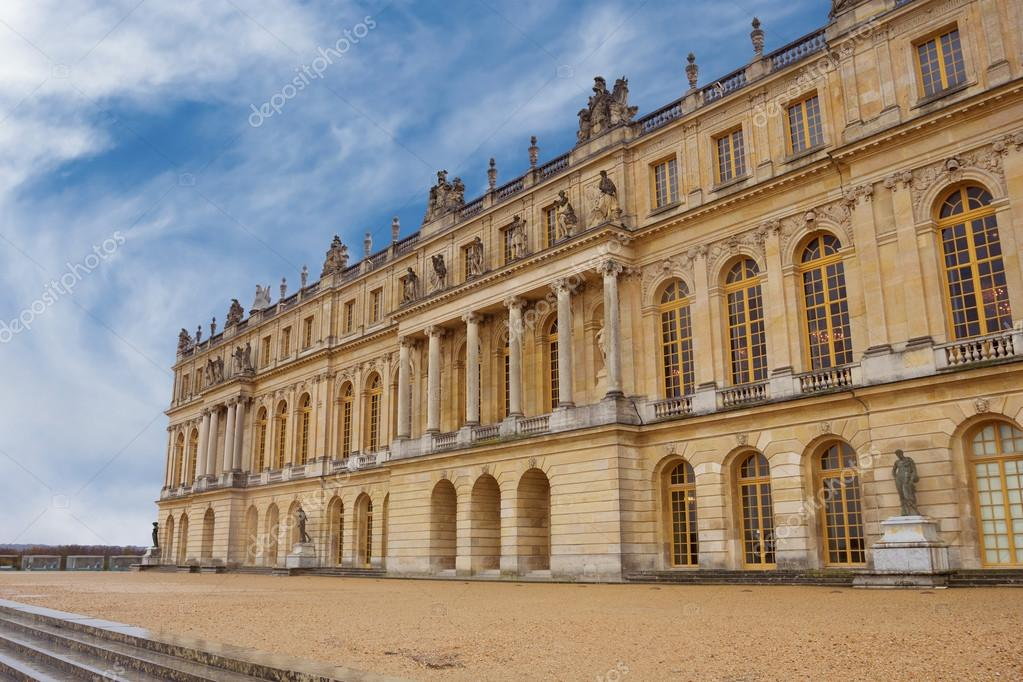 The Palace of Versailles, view from the garden, France