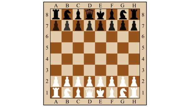 Chess combination mate in three moves. Children mat. Gambit. 2d animation.
