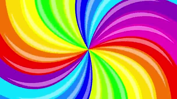Colorful background rainbow  that  rotating spiral. 2d animation.
