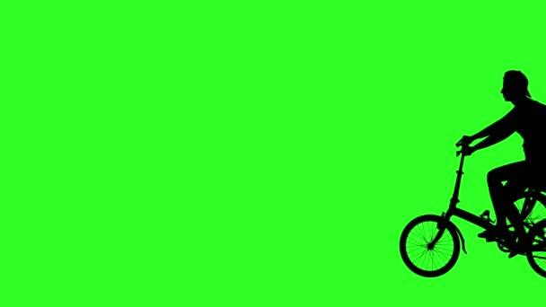 Motorkář procházející obrazovky zprava doleva. Zelená obrazovka záběry. animace
