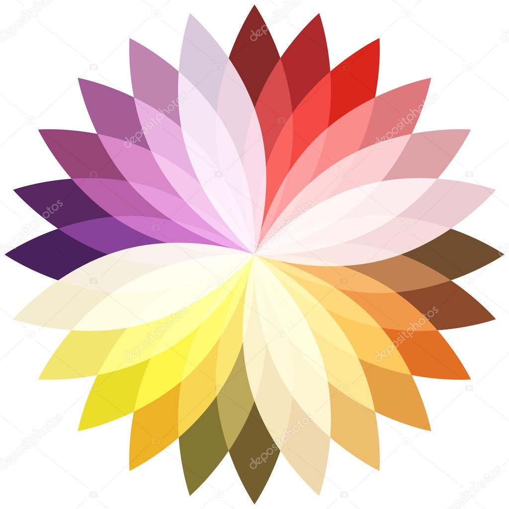 Flower Color Lotus Silhouette For Design Vector Illustration