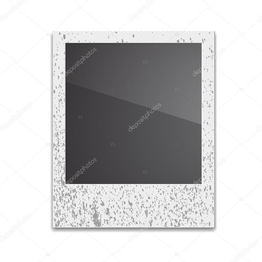 Retro Photo Frame Polaroid On White Background. Vector illustra ...