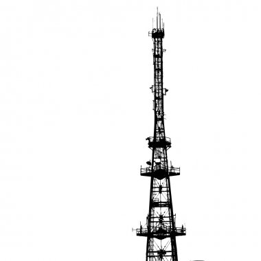 communications tower for tv and mobile phone signals. Vector