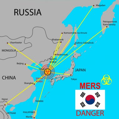 Map the spread of Mers Corona Virus.