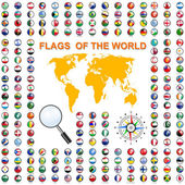 Fotografie Set Flags of world sovereign states. Vector illustration