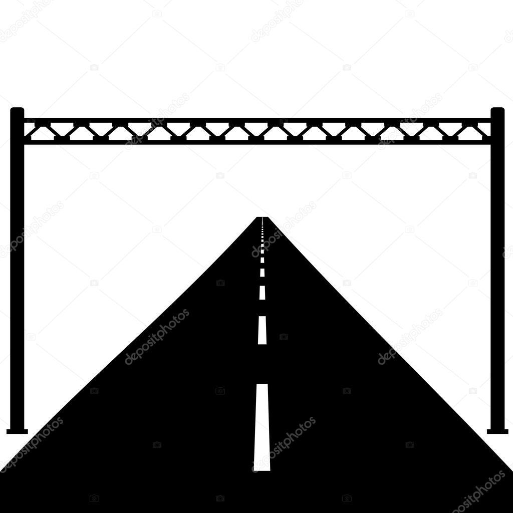 Leere Schild auf der Straße. Vektor-illustration — Stockvektor ...