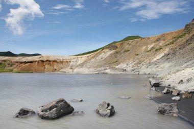 Kunasir Kurils islands Rocks asia Russian Federation
