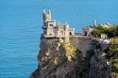 The well known castle Swallow's Nest on the rock in Crimea