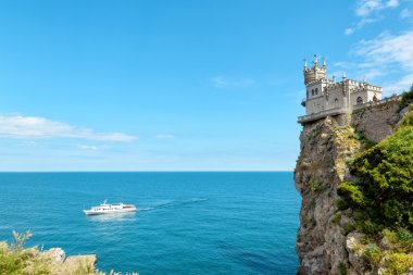 The castle Swallow's Nest on the rock in Crimea