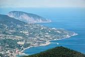 Letecký pohled na město z Jalty na Krymu