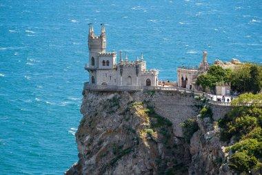 The famous castle Swallow's Nest in the Black Sea in Crimea