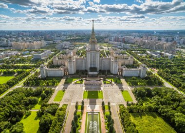 Aerial view of Moscow State University