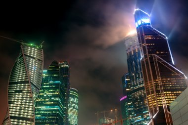 Moscow-city at night, Russia