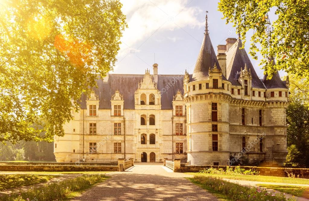 Das Château de Azay-le-Rideau, Schloss in Frankreich — Stockfoto ...