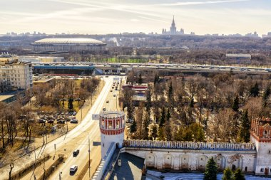 View of Moscow from the Novodevichy Convent