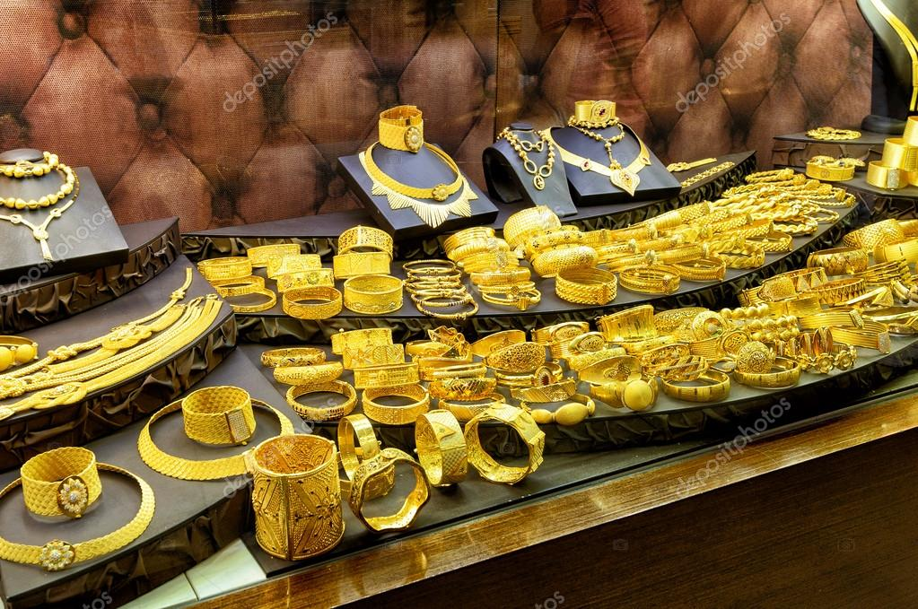 Gold jewelry in the Grand Bazaar Istanbul Turkey Stock Editorial