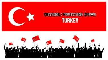 Cheering or Protesting Crowd Turkey