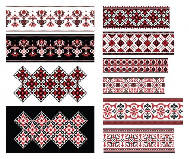 Ukrainian Ornaments Set