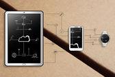 Fotografie intelligente Geräte Daten Kommunikation Abbildung