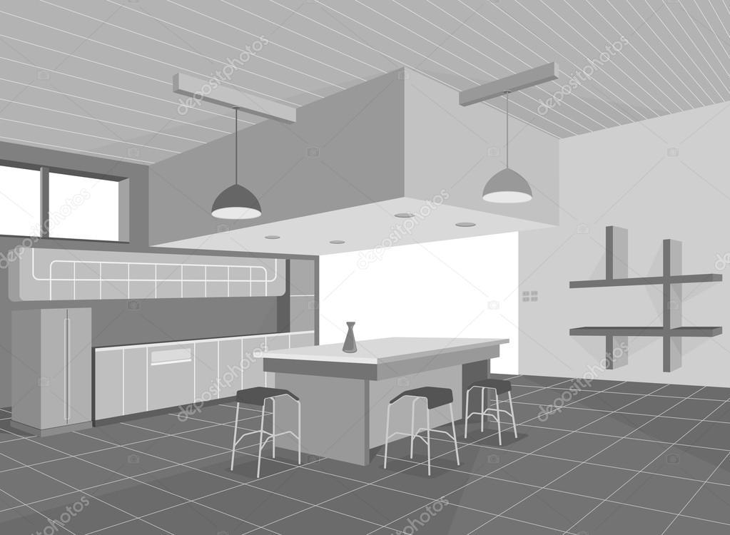 Küche layout — Stockvektor © mapichai #52376969
