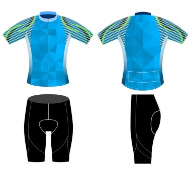 Graphic poly cycling vest