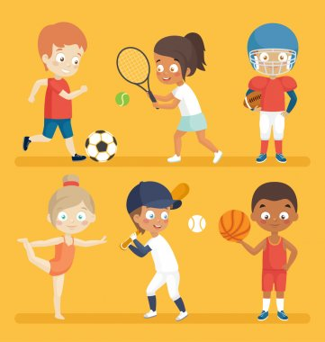 Sport kids illustration.