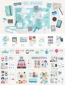 Cestovní sada Infographic