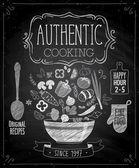 Authentic vaření plakát - tabuli stylu